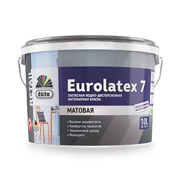 """""""DufaRetail"""" ВД краска EUROLATEX 7,  10л"""